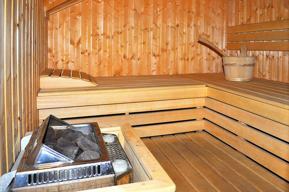 pomieszczenie z sauną w ośrodku Arkadia